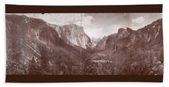 Beach Towel featuring the photograph Vintage Yosemite Valley 1899 by John Stephens