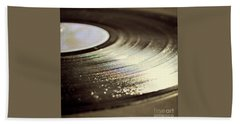 Vinyl Record Beach Towel by Lyn Randle