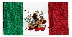 Violence In Mexico Beach Towel