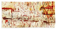 Violent Red Beach Towel