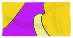 Violet Blonde Beach Towel