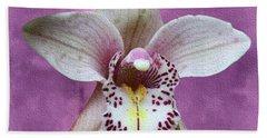 Violet Colored Lauritzen Orchid Beach Towel