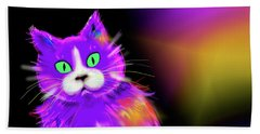 Violet Dizzycat Beach Sheet by DC Langer