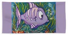 Violet Fish Beach Sheet by Rita Fetisov