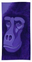 Violet Gorilla Beach Towel