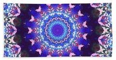 Beach Towel featuring the digital art Violet Lace by Shawna Rowe
