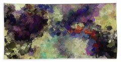 Beach Towel featuring the painting Violet Landscape Painting by Ayse Deniz