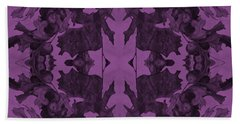 Violet Oak Tree Pattern Beach Towel
