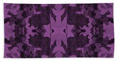 Violet Oak Tree Pattern Beach Sheet