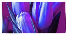 Violet Poetry Of Spring Beach Towel