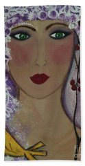 Violet Queen Beach Towel