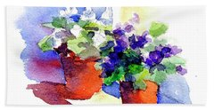 Violets Are Blue Beach Towel