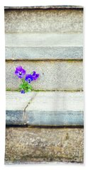 Beach Sheet featuring the photograph Violets    by Silvia Ganora