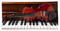 Violin On Piano Beach Sheet
