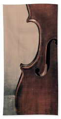Violin Portrait  Beach Towel by Emily Kay