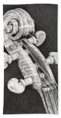 Violin Scroll Beach Towel by Remrov