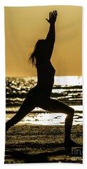 Virabhadrasana_03 Beach Towel