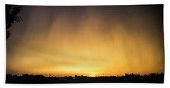 Virga And Sunrise Beach Towel by Karen Slagle