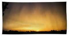 Beach Sheet featuring the photograph Virga And Sunrise by Karen Slagle