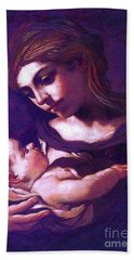 Virgin Mary And Baby Jesus, The Greatest Gift Beach Towel by Jane Small