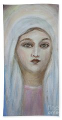 Virgin Mary Beach Towel