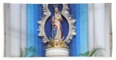 Virgin Mary Shrine Beach Towel