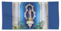 Virgin Mary Shrine Beach Sheet
