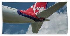 Virgin G V F I T Dancing Queen Britain Flag Carrier Airplane Art Beach Towel