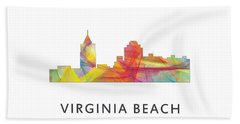 Virginia Beach  Virginia Skyline Beach Sheet by Marlene Watson