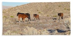 Virginia Range Mustangs Beach Towel