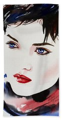 Beach Towel featuring the painting Vision Of Beauty by Michal Madison