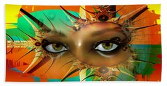 Beach Towel featuring the digital art Vision by Shadowlea Is