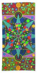 Vision - The Dna Of Plants Beach Towel