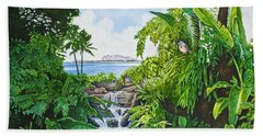Beach Sheet featuring the painting Visions Of Paradise Ix by Michael Frank