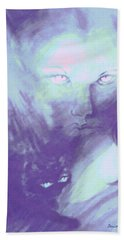 Beach Towel featuring the painting Visions Of The Night by Denise Fulmer