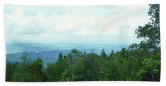 Vista A La Isla De Puerto Rico Beach Sheet