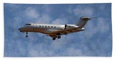 Vista Jet Bombardier Challenger 300 1 Beach Towel