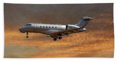 Vista Jet Bombardier Challenger 300 3 Beach Towel