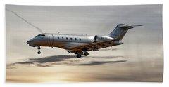 Vista Jet Bombardier Challenger 300 Beach Towel