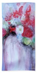 Beach Towel featuring the painting Vitality Still Life by Jasna Dragun