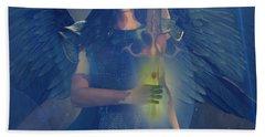 Beach Sheet featuring the painting Vitiligo Angel by Suzanne Silvir