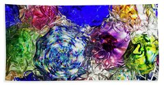 Vitreous Flora Beach Towel by Gary Holmes
