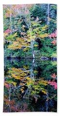 Vivid Fall Reflection Beach Towel