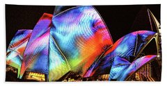 Beach Sheet featuring the photograph Vivid Festival, Sydney by Wallaroo Images