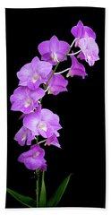Vivid Purple Orchids Beach Towel