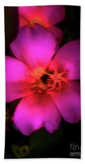 Vivid Rich Pink Flower Beach Sheet