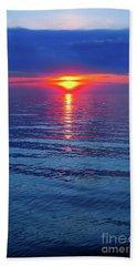 Vivid Sunset Beach Towel by Ginny Gaura