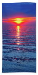 Vivid Sunset - Square Format Beach Sheet by Ginny Gaura
