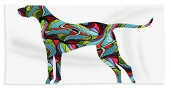 Vizsla Spirit Glass Beach Towel