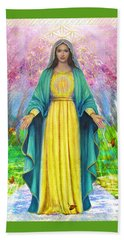 Vk97 Bloom And Thrive With Mother Mary Beach Towel